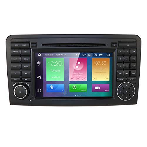 Android 10 Autoradio DVD Player für Mercedes Benz ML-Klasse W164 GL-X164 (2005-2012) 7 Zoll 1024 * 600 Touchscreen Unterstützung GPS Navi DAB + RDS Radio Mirrorlink SWC WiFi Cam in