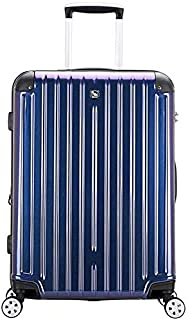 Flower Pot Rack Travel Suitcase Business Travel Password Trolley Case Luggage Wear-resistant Universal Wheel Waterproof Aluminum Frame Box trunk (Color : Purple, Size : 46x27x64cm),Size:46x27x64cm,Col