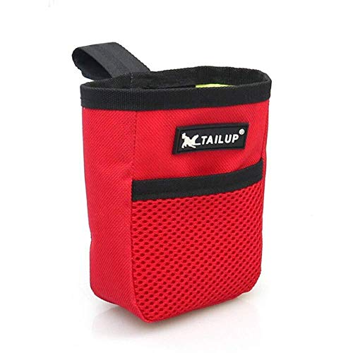 Best Prices! ZHWEI Pet Bag Treat Waist Pouch Carries Food Storage Pet Bag Easy Travel (Color : Red)