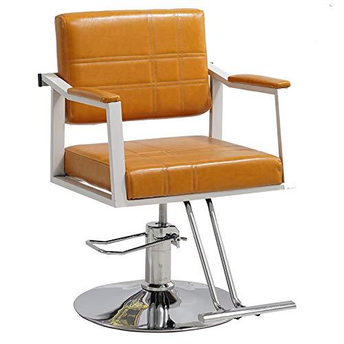 Silla Giratoria Salón Peluquería, Altura Giratoria Hidráulica 360 Grados Ajustable Para Salón Belleza,Naranja