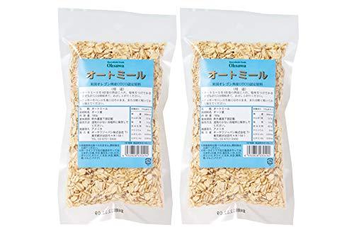 無添加 オートミール(全粒)180g×2個 ★ネコポス★アメリカ産海外認証のオーツ麦を使用した全粒タイプのオートミールです。香ばしく自然な味わい。