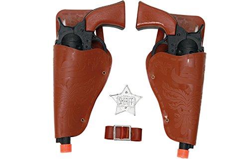 EUROCARNAVALES Kit de Sheriff: 2 Pistolas Negras