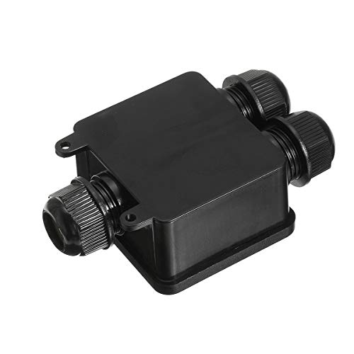 TuToy 3 Way Waterproof Junction Case Box Electrical Cable Wire Line Connector...