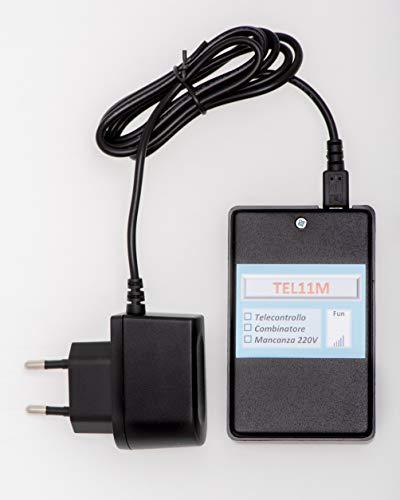 TEL11M_RETE Avviso mancanza ritorno rete elletrica 220 Vca - dispositivo GSM Allarme 220V