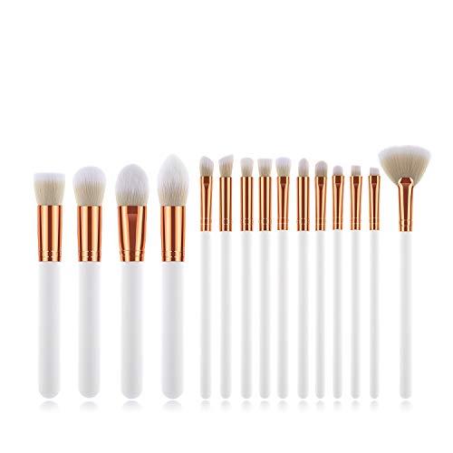 Makeup Brushes Set,Logiverl 15 Pieces Makeup Brush Set Included Eyebrow Eyeshdow Concealer Nose Blending Lip Brush (White)