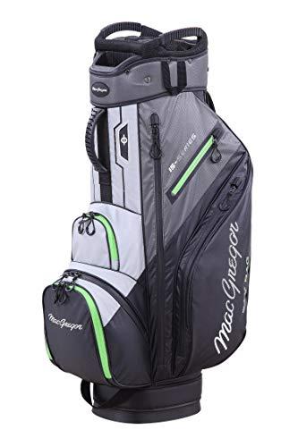 MacGregor - Borsa da golf da uomo, modello MACTEC 15, impermeabile, taglia unica, colore: Nero/Grigio