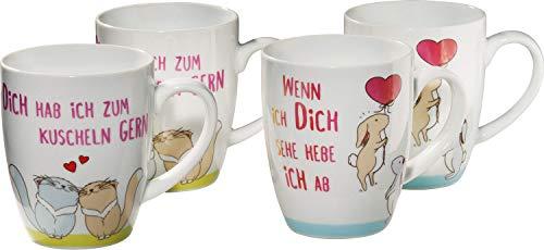 Erwin Müller Kaffeebecher 4er-Pack Porzellan