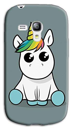 Mixroom - Cover Custodia Case in TPU Silicone Morbida per Samsung Galaxy S3 Mini I8200 I8190 M578 Unicorno Baby