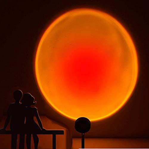 Sunset Projection Lamp, Newest 360 Degree Rotation Sunset Projector Floor Lamp, Romantic LED Rainbow...