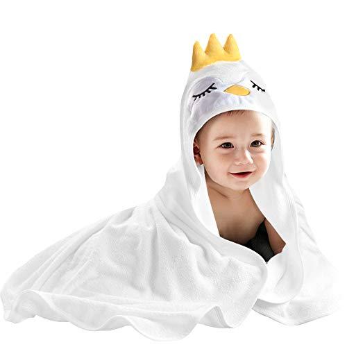 YOOFOSS Baby Badetuch Kapuzenhandtuch 80x80 cm Babyhandtuch Bio-Bambus Kapuzenbadetuch Baby Duschtücher saugfähig Bademantel niedliches Handtuch für Neugeborene Jungen Mädchen