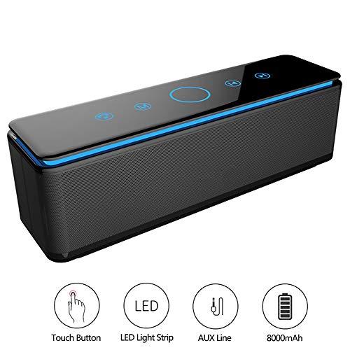 Speaker-EJOYDUTY waterdichte gaming bluetooth-luidspreker buitenshuis, hifi-stereo-box voor draadloze luidsprekers, handsfree installatie, TF-kaart, AUX-muziekweergave