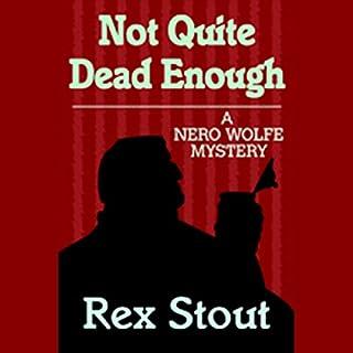 Not Quite Dead Enough audiobook cover art