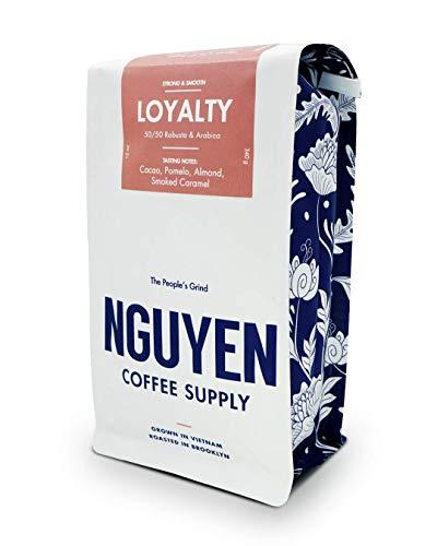 Loyalty Blend Whole Peaberry Robusta Arabica Coffee Bean 12oz, Vietnamese Fair Trade Organic Single Origin Low Acid