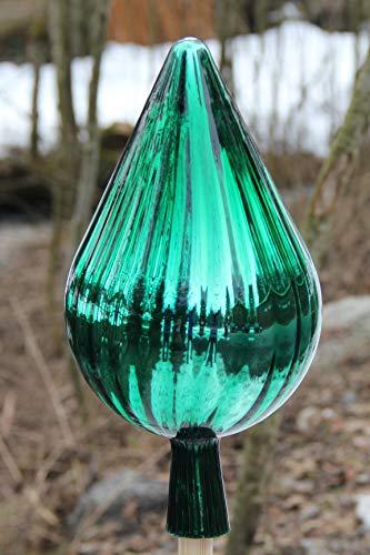 Gartenkugel Rosenkugel (RT3) Tropfenform Gartenkugeln Gartendeko Rosenkugeln Glas XXL 33 cm groß