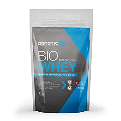 Genetic Bio Whey UMF Strawberry (2kg) - Ultra Premium Bio Whey Protein Powder - Build Lean Muscle - Over 50 Servings, 35g of Protein per Serving by Genetic Supplements