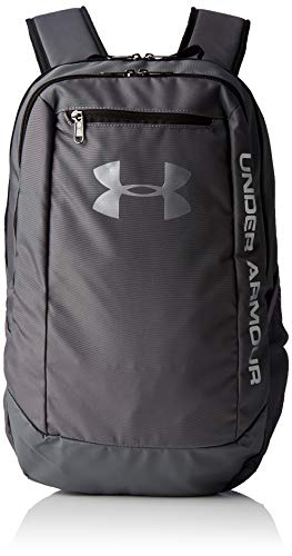 Under Armour UA Hustle Backpack LDWR Mochila Hombre Gris (Graphite/Graphite/Silver 040) Talla única