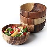 Acacia Wooden Salad Bowl 6.3inches Set of 4 - Individual Salad...