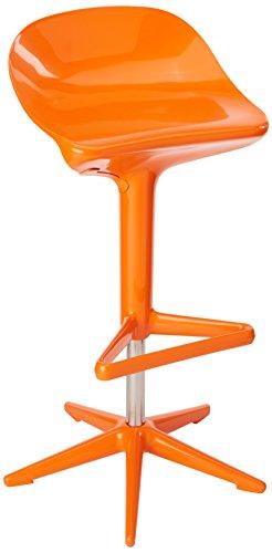 Kartell Spoon Chairs, Orange, 44x76x52 cm