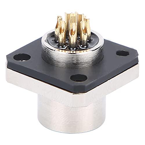 Conector a prueba de agua IP67 Tipo de orificio de 8 clavijas Toma de brida cuadrada Toma de corriente Voltaje nominal CA/CC 250 V