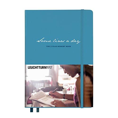LEUCHTTURM1917 355276 Some lines a day, 5-Jahres-Buch Medium (A5), Nordic Blue