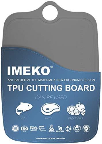 IMEKO New 2019 Kitchen Ergonomic Design TPU Cutting Board - Flexible, Food Safe, BPA free Chopping...