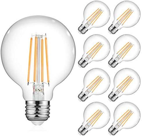 Ascher Vintage G25 LED Globe Light Bulbs 60 Watt Equivalent Warm White 2700K Non Dimmable G25 product image