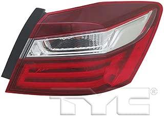 CarLights360: Fits 2016 2017 Honda Accord Tail Light Assembly Passenger Side (Right) CAPA w/Bulbs HO2805108 (Trim: EX-L; EX; LX; SE; Sport Special Edition; Sport; Touring; Sedan)