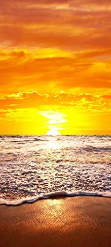Bilderdepot24 Türtapete selbstklebend | Sonnenuntergang auf Hawaii | in 90x200 cm | einteilig Türaufkleber Türfolie Türposter | Wand-deko Dekoration Wohnung | 11497a