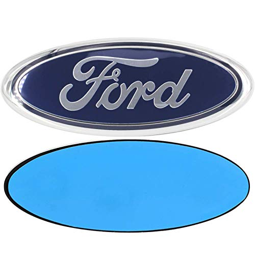 Shenwinfy 7 Inch Front Grille Tailgate Blue Emblem, 3D Oval Adhesive Badge for Escape Excursion Expedition Ranger Freestyle Freestyle Five Hundred F150 F250 F350(Dark Blue)