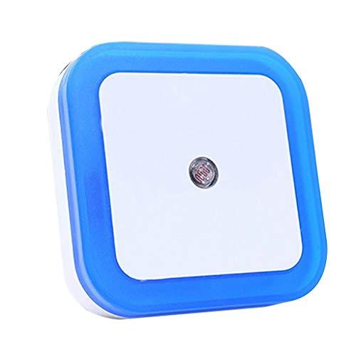 Dicomi Intelligentes LED Sensorlicht für zu Hause Indoor, Kinderzimmer,Werkstatt 110-240V 50/60 Hz 0.5W (EU) Blau