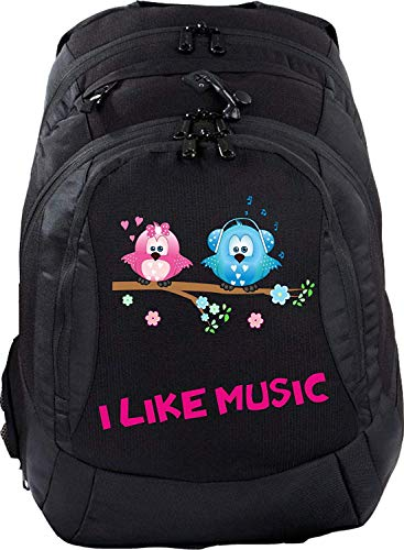Sac à dos d'écolier Teen Compact Cartable Sac à Dos I Like Music-knuffel et knuffeline