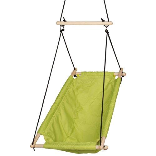 Roba hangstoel, baby- & kinderschommel groen, hangschommel verstelbaar van schommelstoel tot schommelstoel, hangstoel vanaf geboorte tot ca. 6 jaar of 30 kg