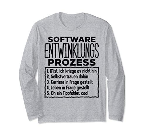 Software Weihnachts Geschenk Lustiges Itler Nerd Geek Shirt Langarmshirt