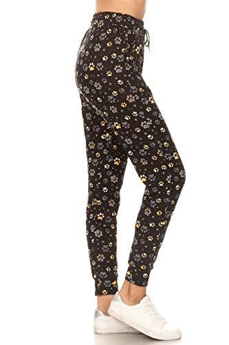 Leggings Depot Women's Popular Print High Waist Premium Jogger Track Pants(S-3X) BAT1