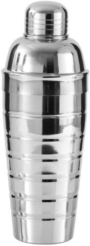 Fackelmann Cocktailshaker 750 ml, Cocktail-Mixer aus Edelstahl, Schüttelbecher für Mixgetränke mit integriertem Sieb (Farbe: Silber), Menge: 1 Stück