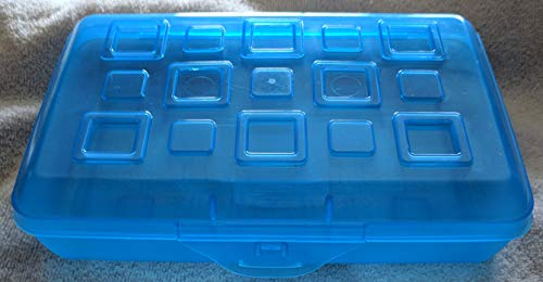 Sterilite Small Pencil Box, Cobalt Tint