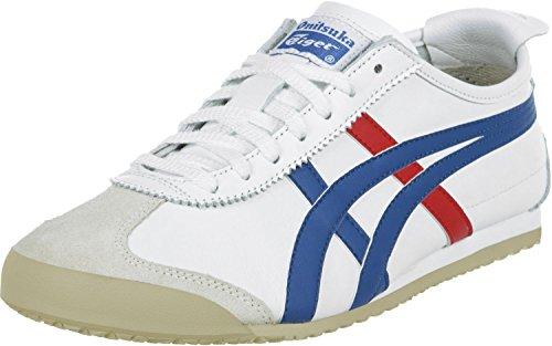 Onitsuka Tiger HL202 Mexico 66 Unisex Sneaker, Weiß (White/Blue/Red 0146), Gr. 42.5 EU / 8 UK