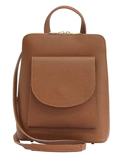 Vojagor Borsa da donna borsa femminile spalla colore a scelta (marrone)