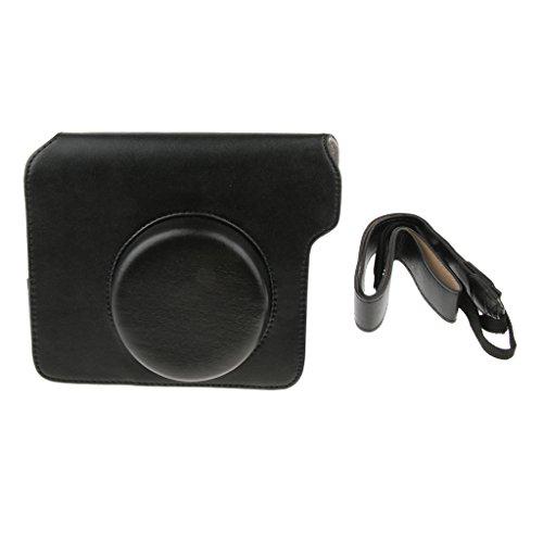 Homyl Universale Copertina Custodia Borsa per Fujifilm Instax Wide 300 Polaroid Fotocamera - PU Pelle - Nero