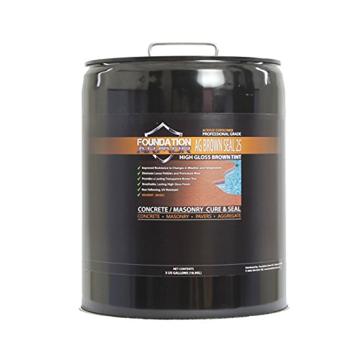 Armor AG Brown Seal 25 Brown Tinted Exposed Aggregate Sealer