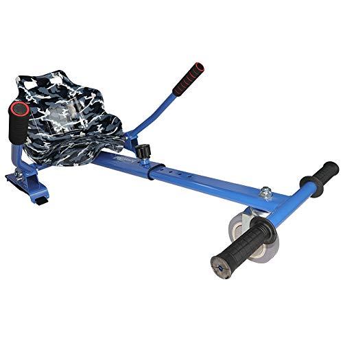 Hiboy 8435518003144, Silla Self Balancing Compatible con Todos los Patinetes Eléctricos de 6.5, 8 y 10 Pulgadas, Niños, Asiento Kart Azul, Talla Única