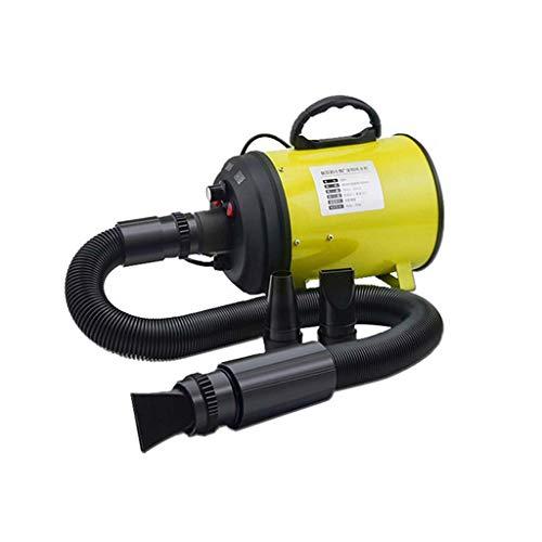 B&MF Estética para Perros Secadora Calentador Profesional Blaster soplador Sin Escala Velocidad 2200W protección contra el sobrecalentamiento rápido de Fuerza Secos 3 Boquillas,Yellow
