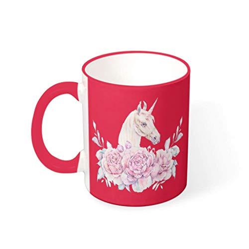 Bekend 11 oz Garlands Eenhoorns Koffiekopjes met Handvat Glad Keramisch Humor Cup - Cartoon Hanukkah Present, voor Dorm gebruik