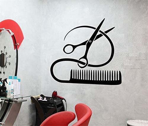stickers muraux chambre sticker mural Barber Tool Design Coiffure Coiffeur Salon De Coiffure Beauté Décor Pour Salon De Coiffure