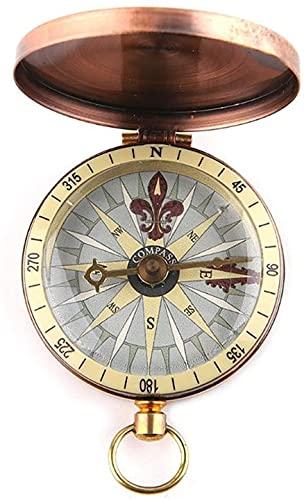 NKTJFUR Vintage Cobre Cubierta de Cobre Reloj de Bolsillo Metal Compass Camping Senderismo Paseos Paseos Náuticos Marina Supervivencia Brújula