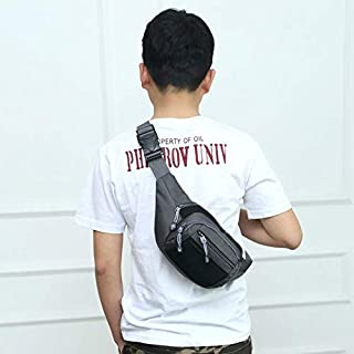 Wuqiang HWJ Fashion Multi-FUNTANDO Hombres OTRANDO Deportes EJERCICIAL Ajustable Bolsa DE CINA TRANSPLETLE (Negro) (Color ...