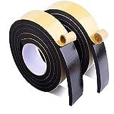 GXSLT Fácil de Desmontar la Tira de Sello Anti-colisión de 0.5-10 mm de Grosor de espinilla súper Fuerte EVA Black Esponja de Esponja de Espuma de Goma única de Cinta Lateral Reutilizable