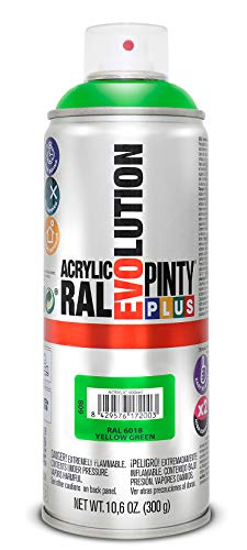 Evolution Pinty RAL 6018 Bomb - Pintura acrílica 400 ml, color verde/amarillo