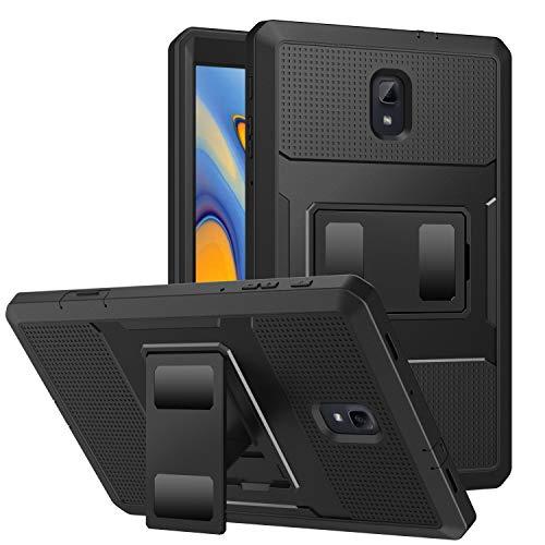 "MoKo Samsung Galaxy Tab A 10.5"" Hülle, [Heavy Duty] Ganzkörper-Rugged Hybrid Stand Cover Schutzhülle mit integriertem Displayschutz für Samsung Galaxy Tab A 10.5"" SM-T590 / T595 2018 - Schwarz"