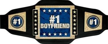 Crown Awards Boyfriend Champion Belt, 1 Boyfriend Championship Belt Trophy for Valentines Day